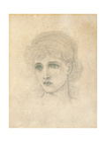 Head of a Woman Giclee Print by John Melhuish Strudwick