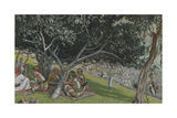 Nathaniel under the Fig Tree from 'The Life of Our Lord Jesus Christ' Giclee Print by James Jacques Joseph Tissot