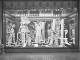 Window Display of Ribbons, Gimbel's Department Store, New York City, March 10, 1915 Photographic Print by William Davis Hassler