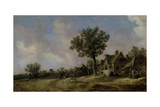 Tavern on a Country Road, 1620 Giclee Print by Jan Josephsz. Van Goyen