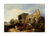 Easby Abbey, C.1852-1856 Giclee Print by James Peel