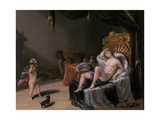 Mars and Venus with Cupid Giclee Print by Laurentius de Neter