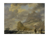 The Harbour from Tenerife Giclee Print by Bonaventura Peeters