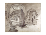 Tivoli, Cryptoporticus under the Temple of Hercules Victor Giclee Print by Sebastian Vrancx