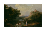 Landscape with Figures Giclee Print by Francesco Zuccarelli