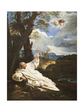 The Vision of Saint Bruno Giclée-tryk af Pier Francesco Mola