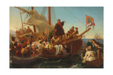 The Departure of Columbus from Palos in 1492, 1855 Giclee Print by Emanuel Gottlieb Leutze