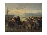 Boarding of the Thousand at Quarto, 5 May 1860 Giclee Print by Girolamo Induno
