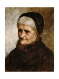 Head of an Old Woman, 1881 Giclee Print by Robert Koehler