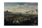 Louis XIV Approaching the Pont Neuf, Paris, 1674 Giclée-Druck von Jan van Huchtenburgh