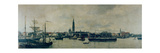 The Antwerp Waterfront Giclee Print by Constantin Emile Meunier
