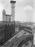 High-Angle View of the Intersection of Flatbush Avenue and Fulton Street Photographic Print by William Davis Hassler