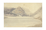 Grassmere Lake and Church Giclee Print by Joseph Mallord William Turner