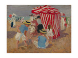 On the Sand, C.1910 Giclee Print by Emmanuel Phillips Fox