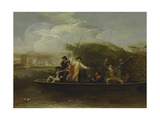 The Fishing Party - a Party of Gentlemen Fishing from a Punt, 1794 Giclee Print by Benjamin West