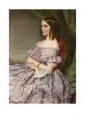 Lady in Lilac Giclee Print by Charles Wynne Nicholls