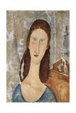 Portrait De Jeanne Hebuterne Giclee Print by Amedeo Modigliani