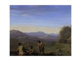 Arcadian Landscape Giclee Print by Cornelis van Poelenburgh