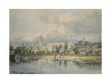 South View of Christ Church from the Meadows, 19th Century Giclee Print by Joseph Mallord William Turner