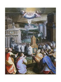 Procession of St Gregory the Great Giclee Print by Jacopo Zucchi