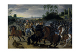 Cavalry in Combat at the Foot of a Hill Giclee Print by Sebastian Vrancx