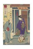 The Ryukotei Restaurant in Yanagibashi, 1878 Giclee Print by Toyohara Kunichika