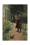 The Village Postman Gicléetryck av Walter Dendy Sadler