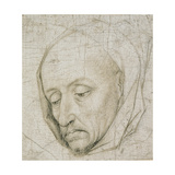 Study of the Head of an Old Man, 15th Century Giclee Print by Rogier van der Weyden