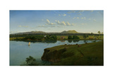 Purrumbete from across the Lake, 1858 Giclee Print by Eugen von Guerard