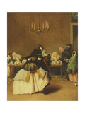The Ridotto, Venetian Masks Giclee Print by Pietro Longhi