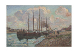 The Quay at Austerlitz Giclee Print by Jean Baptiste Armand Guillaumin