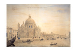 Chiesa Della Salute, Grand Canal, Venice Giclee Print by Gaspar van Wittel