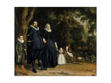 A Dutch Family, 1624 Giclee Print by Thomas de Keyser