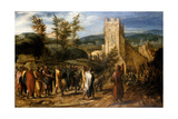 Christ Entering Jerusalem, 1551-1600 Giclee Print by Jan van Hemessen