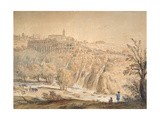 View of the Basilian Monastery at Grottaferrata, Rome Giclee Print by Gaspar van Wittel