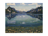 Thunersee with Reflection; Thunersee Mit Grundspiegelung, 1904 Giclee Print by Ferdinand Hodler