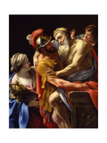 Æneas and His Father Fleeing Troy, C.1635 Giclee Print by Simon Vouet