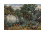 Hauling Rails for a Fence, Mount Macedon, 1910 Giclee Print by Frederick McCubbin