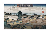 Evening Bell, Kamakura', from the Series 'Eight Views of Famous Places' Giclee Print by Toyokuni II