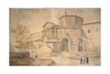 Basilica Di San Vitale, Ravenna Giclée-Druck von Gaspar van Wittel