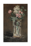 Flowers in a Crystal Vase Giclee Print by Edouard Manet