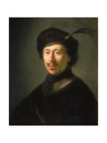 Young Man in a Gorget and Plumed Cap, C.1630 Giclee Print by Isaac de Jouderville