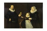 Familyportret Giclée-Druck von Cornelis van der Voort