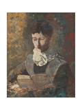 Madam Camille Redon Reading Giclee Print by Odilon Redon