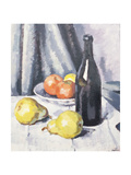 Apples, Pears and a Black Bottle on a Draped Table, C.1928 Giclee Print by Samuel John Peploe