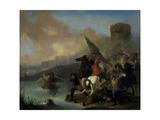 Battle Scene Giclee Print by Jan van Huchtenburgh