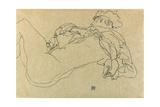 Reclining Female Nude, 1914 Giclee Print by Egon Schiele