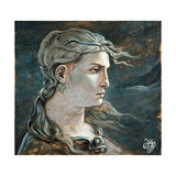 Head of Medusa, 1878 Giclee Print by Elihu Vedder