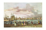View of Boston and the South Boston Bridge C. 1829 Giclee Print by Jacques Milbert