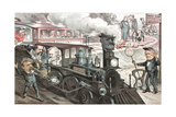 To the Chicago Convention, 1880 Giclee Print by Joseph Keppler